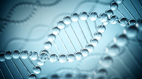 DNA Background - 3D illustration Stock Photos