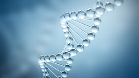 DNA Background - 3D illustration Stock Images