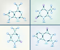 Dna bases. Graphic illustration of dna bases - adenine, guanine, cytosine, thymine Stock Photography