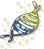 DNA-Baumuster Stockbild