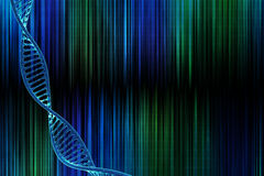 DNA in beautiful background Royalty Free Stock Photography