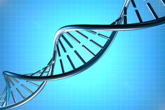 DNA in beautiful background Royalty Free Stock Photo
