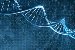 DNA in beautiful background Royalty Free Stock Image