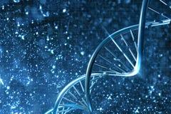 DNA in beautiful background. Digital 3D illustration of a DNA in beautiful background Stock Illustration