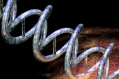 Dna big bang. Dna origin of life big bang explosion energy concept render background Royalty Free Stock Photos
