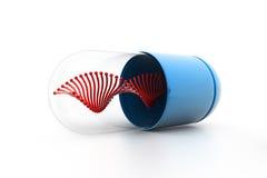 DNA binnen de capsule vector illustratie