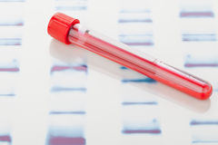 DNA blood sample royalty free stock images