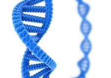 DNA blu Immagine Stock
