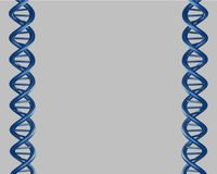 DNA blue stock images