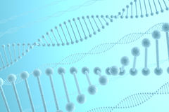 DNA Blue Background Stock Photography