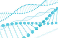 DNA Blue Glass. 3D rendering of DNA with a style of bluish glass stock illustration