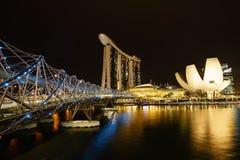 DNA-Brücke Singapur Stockfoto