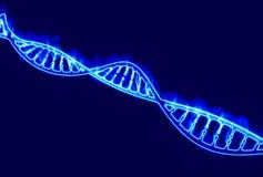 DNA, brandende DNA-schroef, deoxyribonucleic zuur is een nucleic zuur dat genetische informatie voor de ontwikkeling en juist F b Stock Fotografie