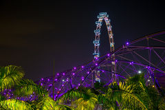 DNA bridge Bridge on the background of Singapore Royalty Free Stock Photos