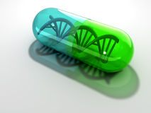 Dna capsule Stock Images