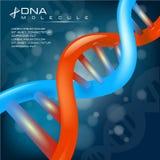 Dna cell molecule background vector background. Dna cell molecule background vector illustration Stock Photos