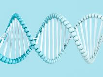 DNA chain. Abstract scientific background. 3D rendering. DNA chain. Abstract scientific background. Beautiful illustraion. Biotechnology, biochemistry, genetics Royalty Free Stock Photo
