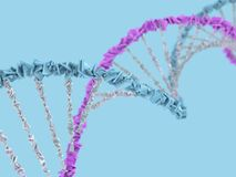 DNA chain. Abstract scientific background. 3D rendering. DNA chain. Abstract scientific background. Beautiful illustraion. Biotechnology, biochemistry, genetics Royalty Free Stock Image