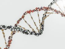 DNA chain. Abstract scientific background. 3D rendering. DNA chain. Abstract scientific background. Beautiful illustraion. Biotechnology, biochemistry, genetics Royalty Free Stock Photos