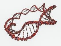 DNA chain. Abstract scientific background. 3D rendering. DNA chain. Abstract scientific background. Beautiful illustraion. Biotechnology, biochemistry, genetics stock illustration
