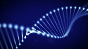 DNA chain. Animated DNA chain with blue background loop royalty free illustration