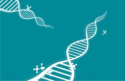 DNA chain background Royalty Free Stock Photo