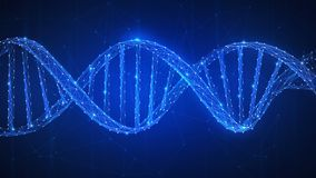 DNA chain futuristic hud banner. Stock Photo