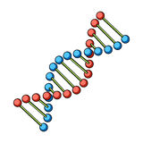 DNA chain.Medicine single icon in cartoon style vector symbol stock illustration web. Stock Photos