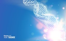 DNA chain. Royalty Free Stock Images