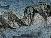 DNA chain. Surrealism. DNA chain. Words. Image composed entirely of text, words Royalty Free Stock Photography