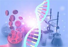 DNA in chemistry lab vector illustration
