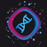 DNA-Chromosom-Knopf - moderne bunte Vektor-Ikone - lokalisiert auf schwarzem Hintergrund lizenzfreie abbildung