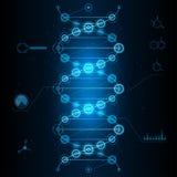 DNA cibernética ilustración del vector