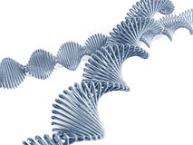 Dna code. Dna genetic code 3d concept abstract Royalty Free Stock Images