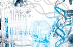 DNA-collage royalty-vrije stock foto's