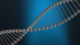 DNA in color background and various material, 3d render illustration Stock Image