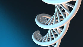 DNA in color background and various material, 3d render illustration Royalty Free Stock Photography