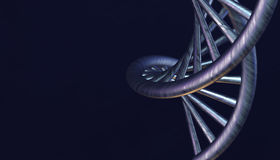 DNA in color background and various material, 3d render illustration Royalty Free Stock Photo