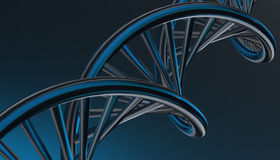 DNA in color background and various material, 3d render illustration Royalty Free Stock Images