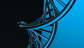 DNA in color background and various material, 3d render illustration Royalty Free Stock Image