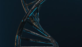 DNA in color background and various material, 3d render illustration Stock Images