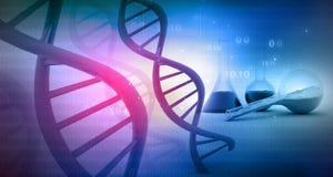 DNA con el laboratorio Fotografía de archivo libre de regalías