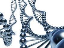 Dna concept. Massive DNA chains (3d render royalty free illustration