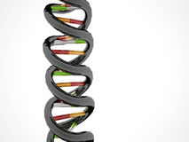 DNA concept on white Stock Photography