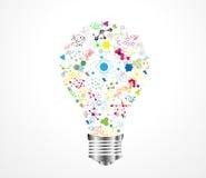DNA creativo di idea della lampadina Immagine Stock Libera da Diritti