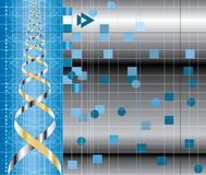 Dna curve background Stock Image