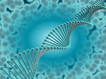 DNA cyan Royalty Free Stock Photos