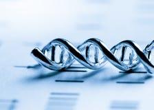 DNA, cząsteczkowy lab test Fotografia Stock
