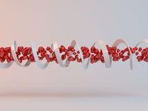 DNA 3d der Tunnelliebe Stockbild