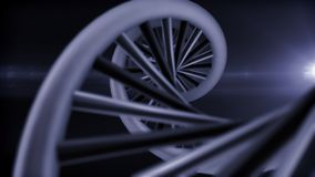 DNA-Darstellung mit hellem Aufflackern Stockfotografie